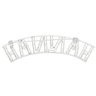 Detti Originals Silver 'HANNAH' Crystal Name Pin