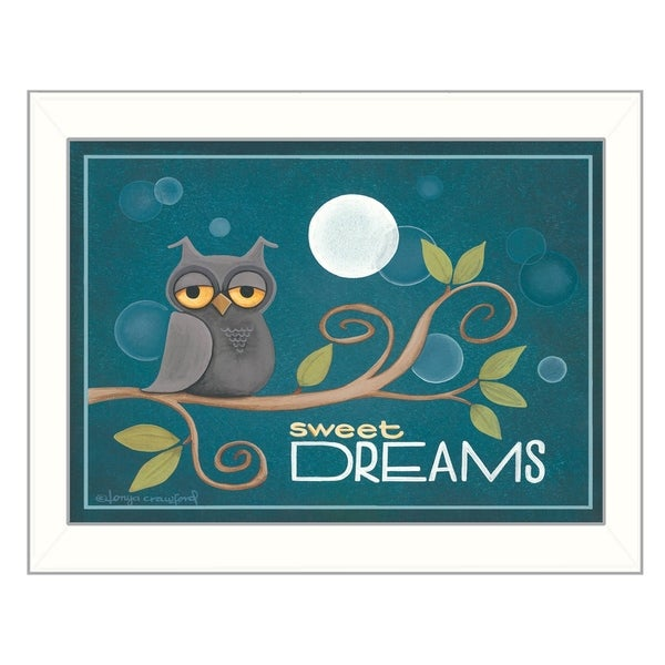 """Sweet Dreams"" By Tonya Crawford, Printed Wall Art, Ready To Hang Framed Poster, White Frame"