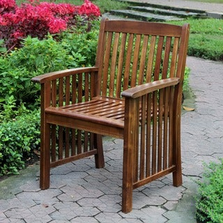 International Caravan 'Denver' Acacia Hardwood Arm Chairs (Set of 2)