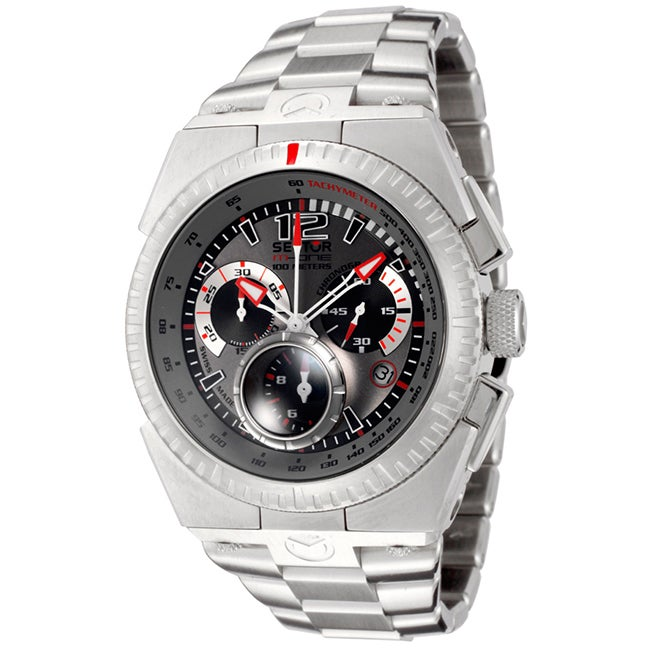 Sector Men's Chronograph Tachymeter Date Watch (Silver), ...