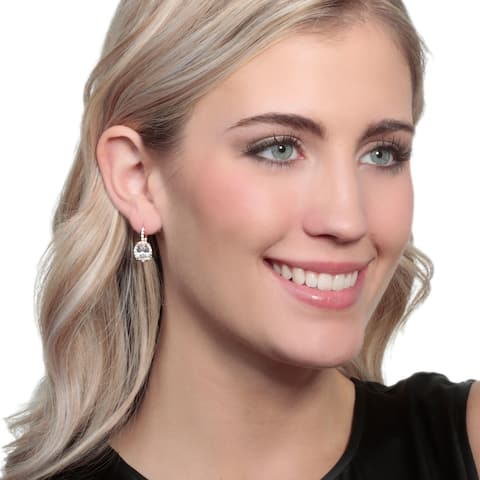 Icz Stonez Cubic Zirconia Oval Halo Leverback Drop Earrings, 3 Colors