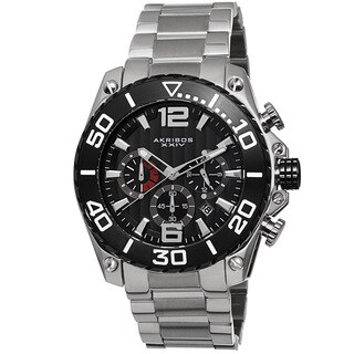 Link to Akribos XXIV Men's Date Chronograph Stainless Steel Black Bracelet Watch Similar Items in Men's Watches
