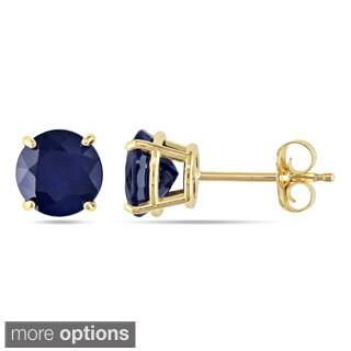 Miadora 10k Gold 2 1/10ct TGW Sapphire Solitaire Earrings