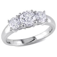 Miadora Signature Collection 14k White Gold 1 1/4ct TDW Diamond Ring