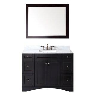 Virtu USA Elise 48-inch Single Sink Espresso Vanity with Carrara White Marble Countertop