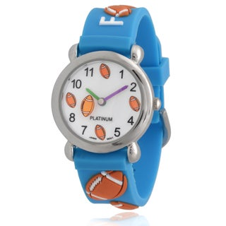 Geneva Platinum Kids' Football Silicone Watch (2 options available)