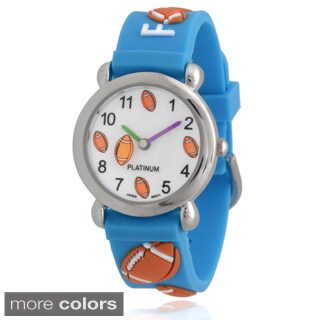 Geneva Platinum Kids' Football Silicone Watch
