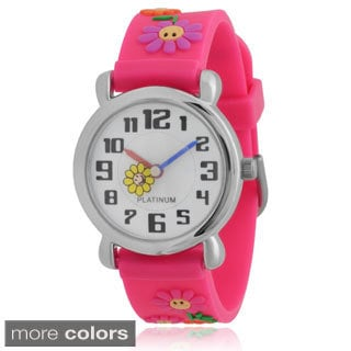 Geneva Platinum Kids' Flower Silicone Watch