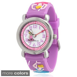 Geneva Platinum Kids' Ballerina Silicone Watch