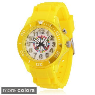 Geneva Platinum Kids' Silicone Light-up Watch