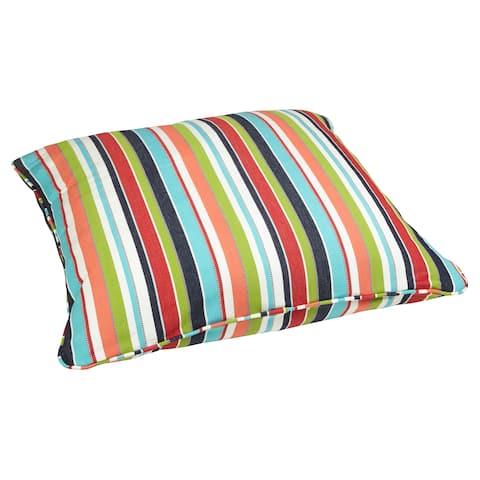 Multicolor Stripe 26-inch Square Indoor/ Outdoor Floor Pillow with Sunbrella Fabric