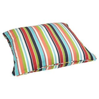 Multicolor Stripe 28-inch Square Indoor/ Outdoor Floor Pillow with Sunbrella Fabric