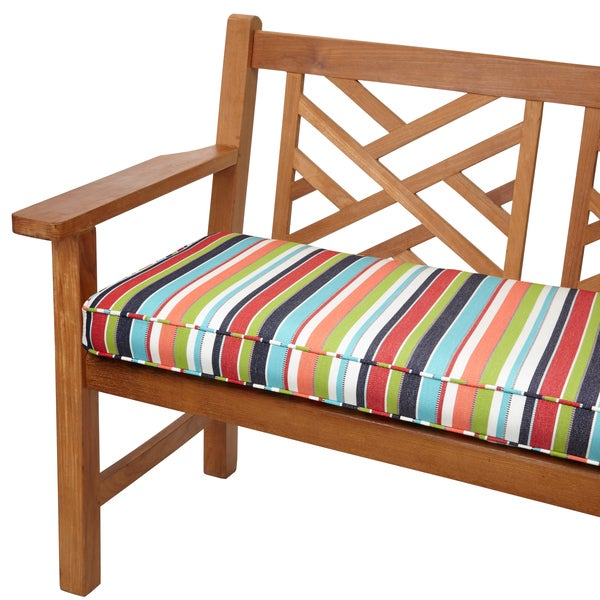 Shop Multicolor Stripe Indoor Outdoor 48 Inch Bench Cushion With