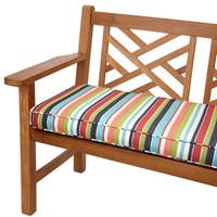 Multicolor Stripe Indoor/ Outdoor 48-inch Bench Cushion with Sunbrella Fabric