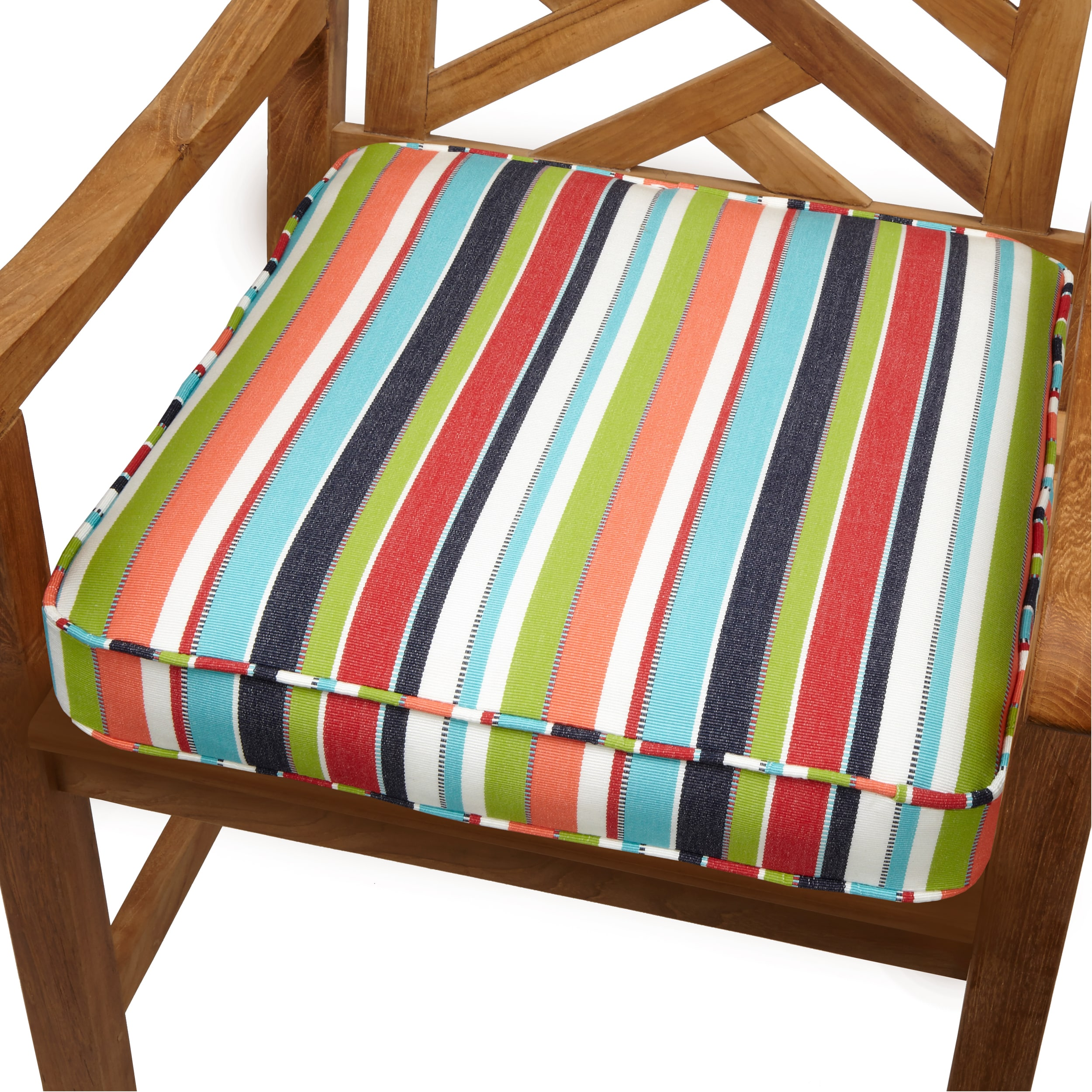Multicolor Stripe Indoor Outdoor 19 Inch Chair Cushion With Sunbrella Fabric On Sale Overstock 8843711