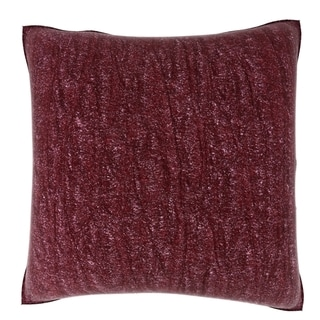 18-inch Tranquil Burgundy Textured Velour Throw Pillow