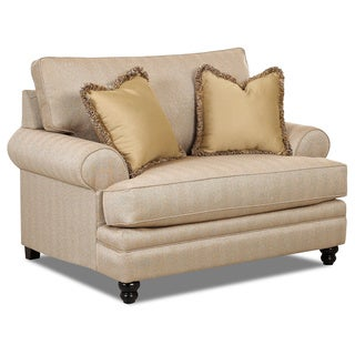 Made to Order Daryn Straw Upholstered 57-inch Wide Arm Chair