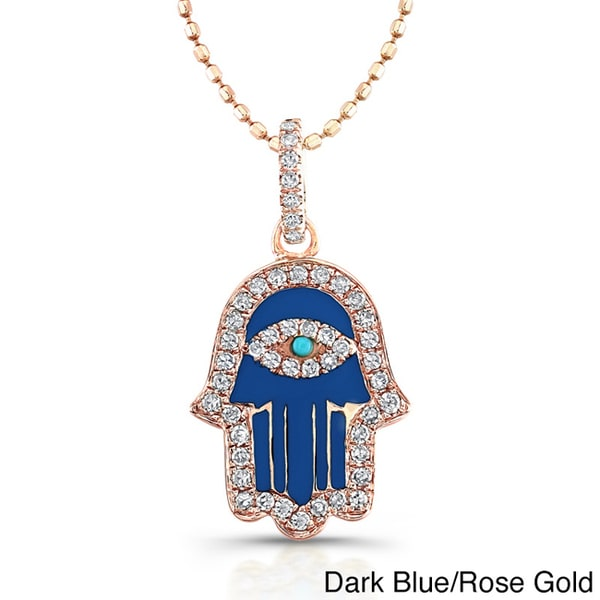 Victoria kay 14k rose gold 15ct tdw diamond enamel hamsa necklace victoria kay 14k rose gold 15ct tdw diamond enamel hamsa necklace j k mozeypictures Images