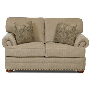 Made to Order Clayton Collection Nail Head Trim Platinum Loveseat
