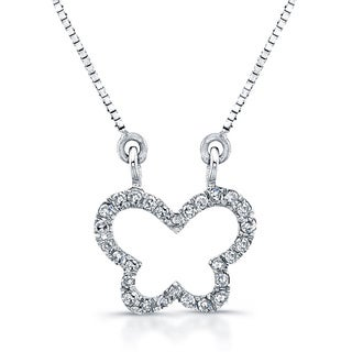 Victoria Kay 14k White Gold 1/10ct Diamond Mini Butterfly Necklace