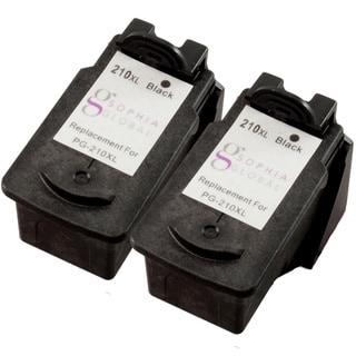 Sophia Global Remanufactured Black Ink Cartridge Replacement for Canon PG-210XL (Pack of 2)