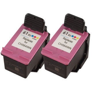 Sophia Global Remanufactured Color Ink Cartridge Replacement for HP 61XL (Pack of 2)