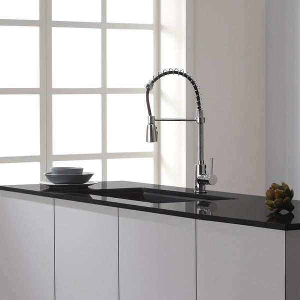 kraus 31 inch undermount single bowl black onyx granite kitchen sink free shipping today overstockcom 16073796. beautiful ideas. Home Design Ideas