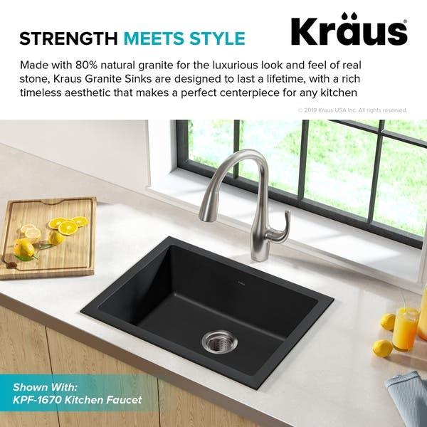 Shop Kraus KGD-410B Undermount Drop-in 24 inch 1-Bowl ...