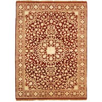 Safavieh Hand-knotted Ganges River Red/ Ivory Wool Rug - 5' x 7'