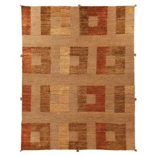Safavieh Hand-knotted Santa Fe Modern Abstract Dark Beige Wool Rug (8' x 10')
