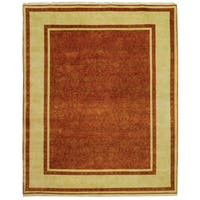 Safavieh Hand-knotted Ganges River Rust/ Ivory Wool Rug - 5' x 7'