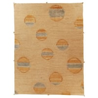 Safavieh Hand-knotted Santa Fe Modern Abstract Beige Wool Rug - 8' x 10'