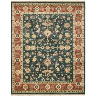 Safavieh Hand-knotted Serapi Navy/ Rust Wool Rug (8' x 10')