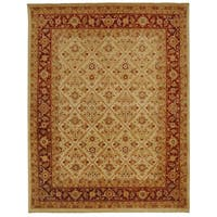 Safavieh Hand-knotted Samarkand Ivory/ Rust Wool Rug - 8' x 10'