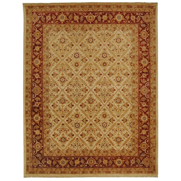 Safavieh Hand-knotted Samarkand Ivory/ Rust Wool Rug - 8' x 10'