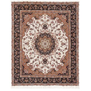 Safavieh Hand-knotted Tabriz Floral Multi Wool/ Silk Rug (8' x 10')