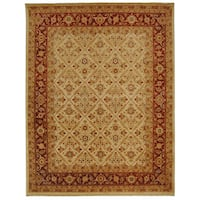 Safavieh Hand-knotted Samarkand Ivory/ Rust Wool Rug - 6' x 9'