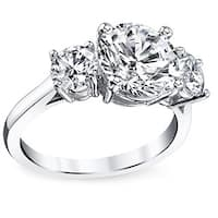 Platinum Certified 3 1/2ct TDW Round-cut Diamond Ring