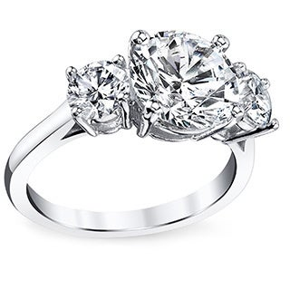 Platinum Certified 3 1/2ct TDW Round-cut Diamond Ring