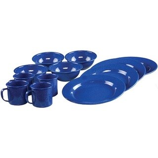 Coleman 12-piece Enamelware Dining Set