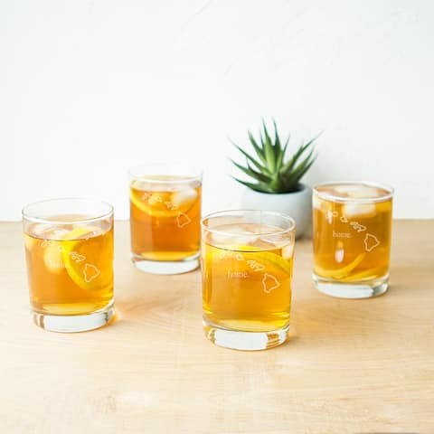 Home State Low Ball Drinking Glasses (Set of 4)