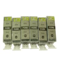 Compatible Large Black Ink Cartridge Replacement for Canon PGI-225 (Pack of 6)