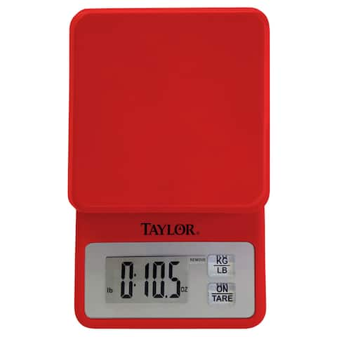 Red Compact Kitchen Scale