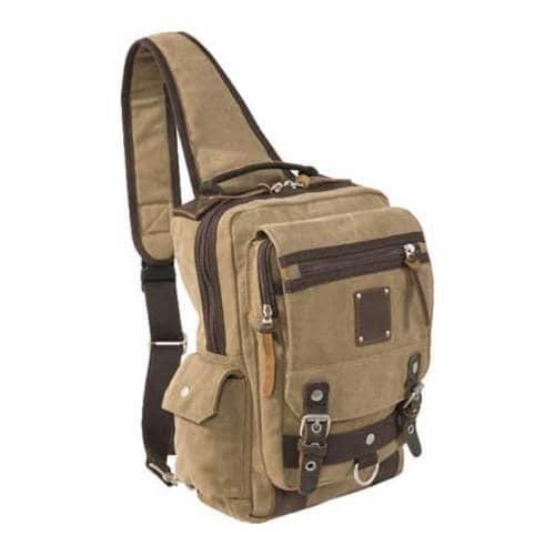 Laurex Khaki Urban Style Sling Backpack