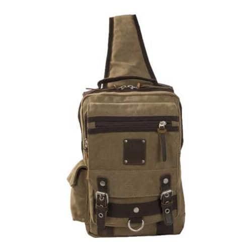 Laurex Khaki Urban Style Sling Backpack - Thumbnail 2