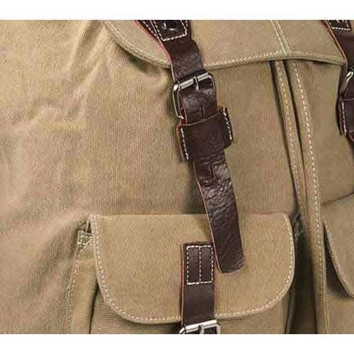 Laurex Vintage Design Backpack 8224 Khaki - Thumbnail 2