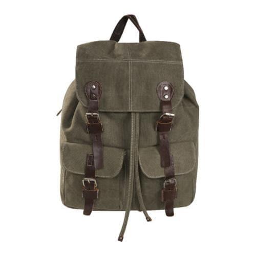 Laurex Vintage Design Backpack 8224 Olive - Thumbnail 2