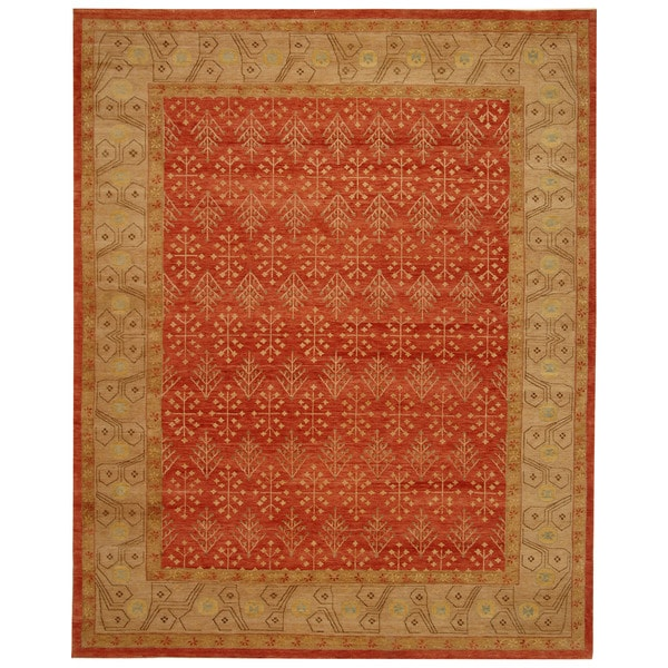 Safavieh Hand-knotted Marrakech Rose/ Ivory Wool Rug - 10' x 14'