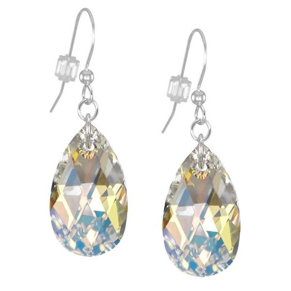 408397f63ab9d Shop Handmade Jewelry by Dawn Large Aurora Borealis Crystal Pear ...