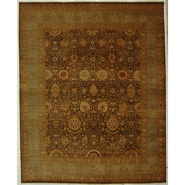 Safavieh Hand-knotted Lavar Brown/ Light Blue Wool Rug - 9' x 12'